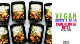 Vegan Sweet & Sour Cauliflower Bites Meal Prep