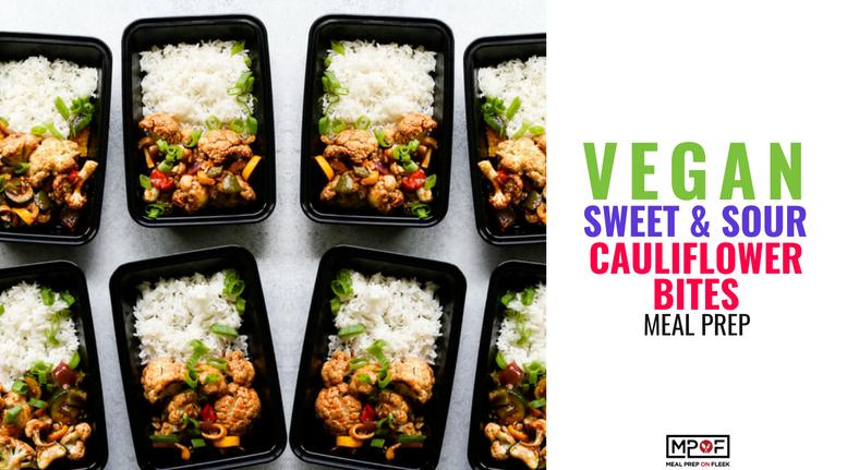 Vegan Sweet & Sour Cauliflower Bites Meal Prep