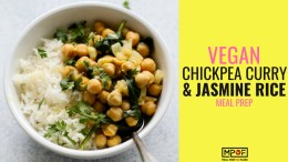 Vegan Chickpea Curry & Jasmine Rice Meal Prepblog