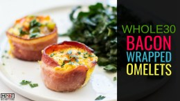 Whole30 Bacon Wrapped Omelets blog