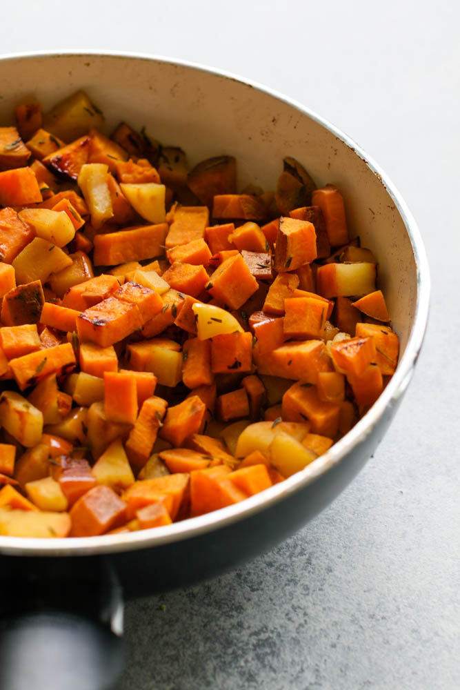 Cubbed Sweet Potatoes