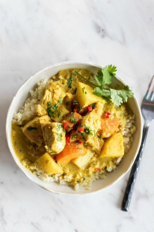 yellow curry meal prep