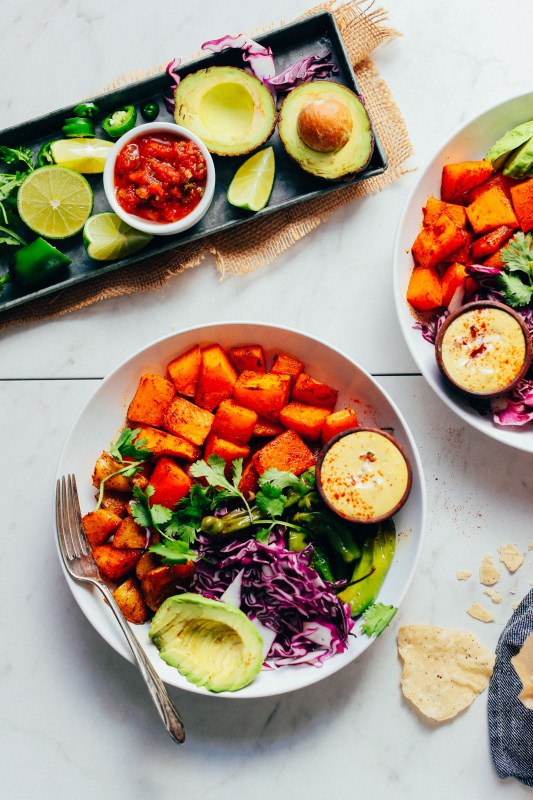 Butternut Squash Bowl with Jalape+¦o Queso
