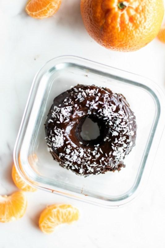 Vegan Double Chocolate Donut Meal Prep