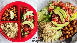Quinoa Chickpea Taco Bowl Meal Prep