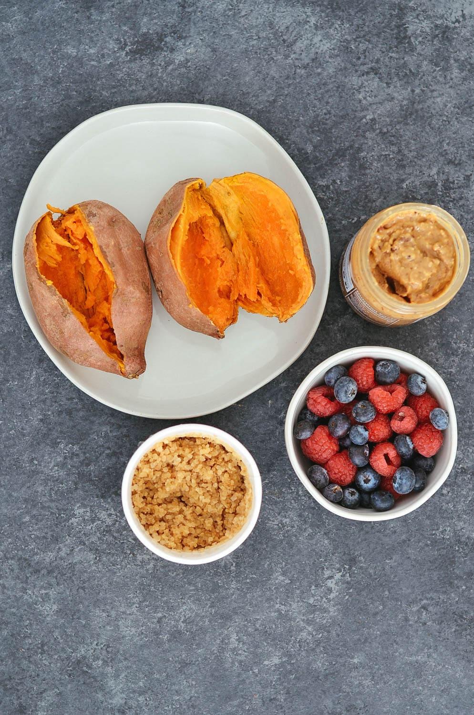 Quinoa Stuffed Sweet Potato Meal Prep 3 Ways -93