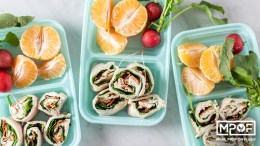 Turkey Bacon Ranch Pinwheel Snack Boxes