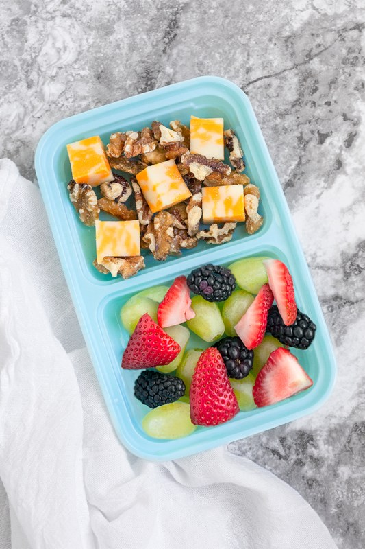 DIY Fruit & Protein Snack Boxes