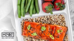 Sheet Pan Sriracha Honey Glazed Salmon