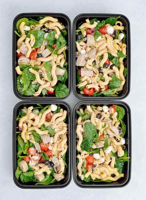 Italian Sausage Pasta Salad Meal Prep