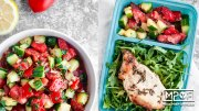 Sheet Pan Thyme Pork Chops and Marinated Salad