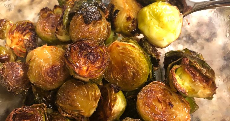 Crispy Sweet & Spicy Sprouts