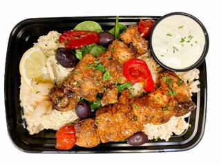 Greek Pork Souvlaki Platter