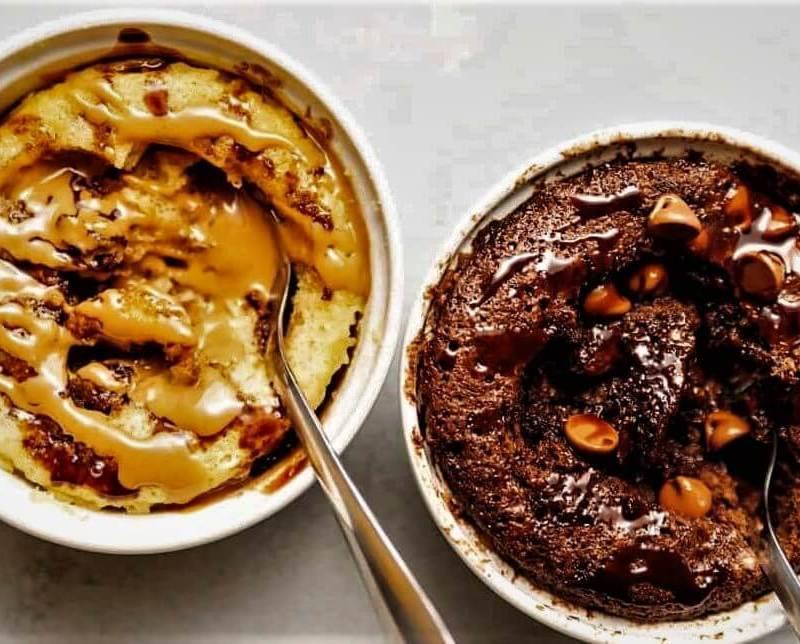 كيكة الكيتو ماج في المايكرويف – بالشوكولاتة أو الفانيليا أو زبدة الفول السوداني