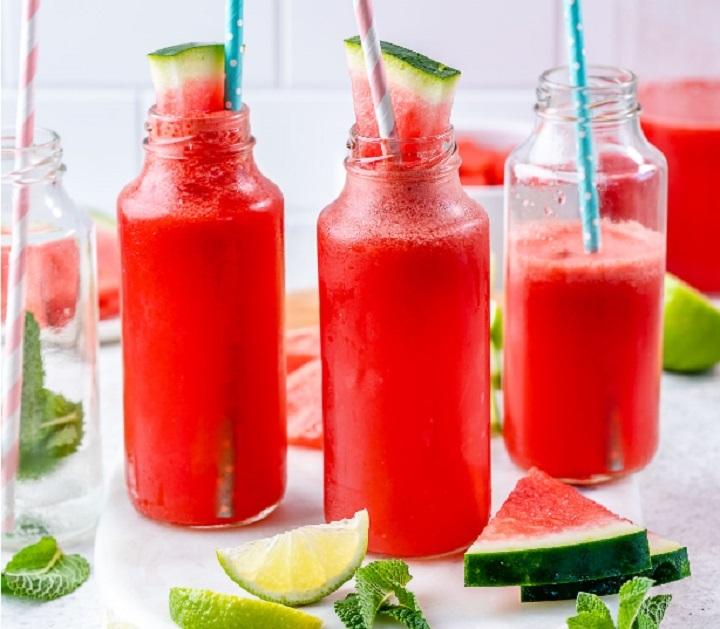 عصير الليمون و البطيخ