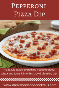 Pepperoni Pizza Dip - Everything you love about pizza in a crowd pleasing, easy-to-make dip!