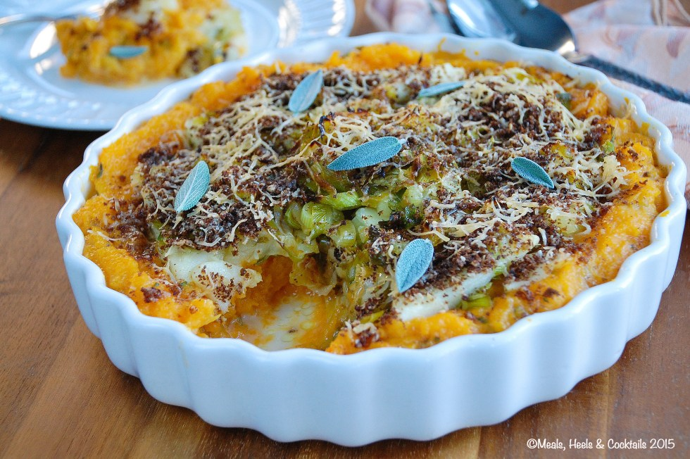 Butternut Squash and Apple Gratin