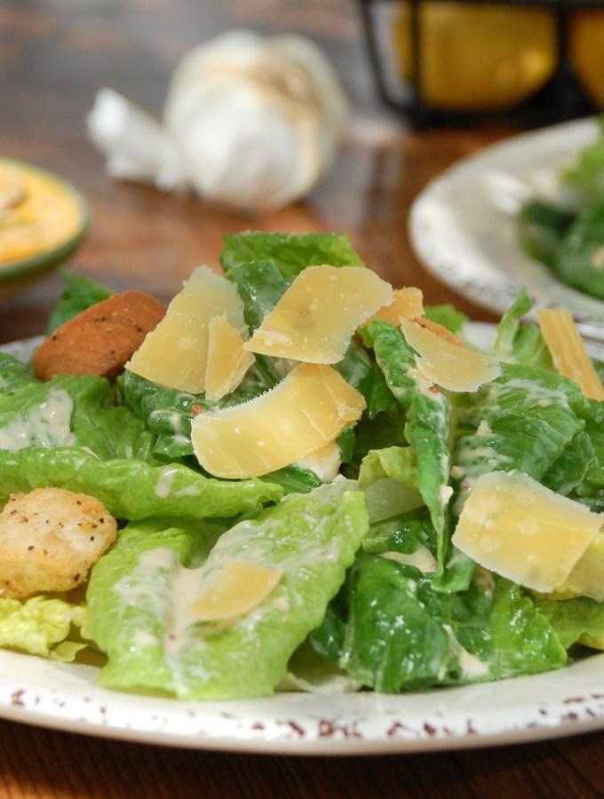Caesar Salad Dressing with Gouda