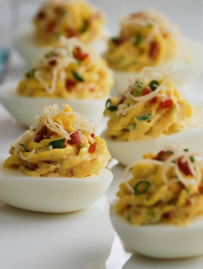 Smoked Gouda & Bacon Deviled Eggs