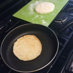 Looks like pancakes, tastes like a grilled cheese sandwich.