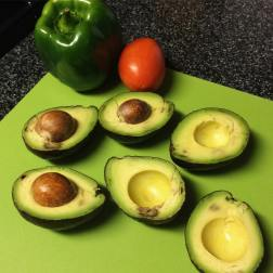 Selina did a beeeeautiful job of cutting up the avocados.