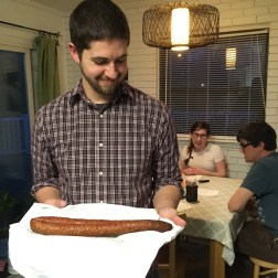 Eric, looking very proud of his meat
