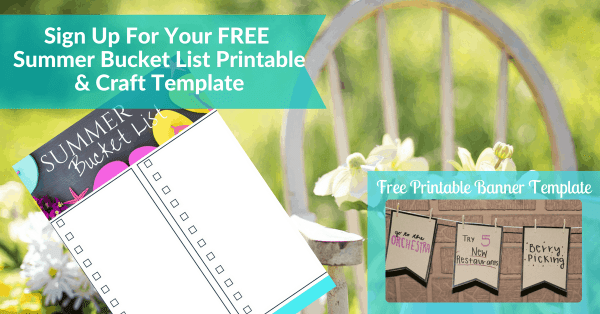 Summer Bucket List and Craft Template Free Printable Opt In