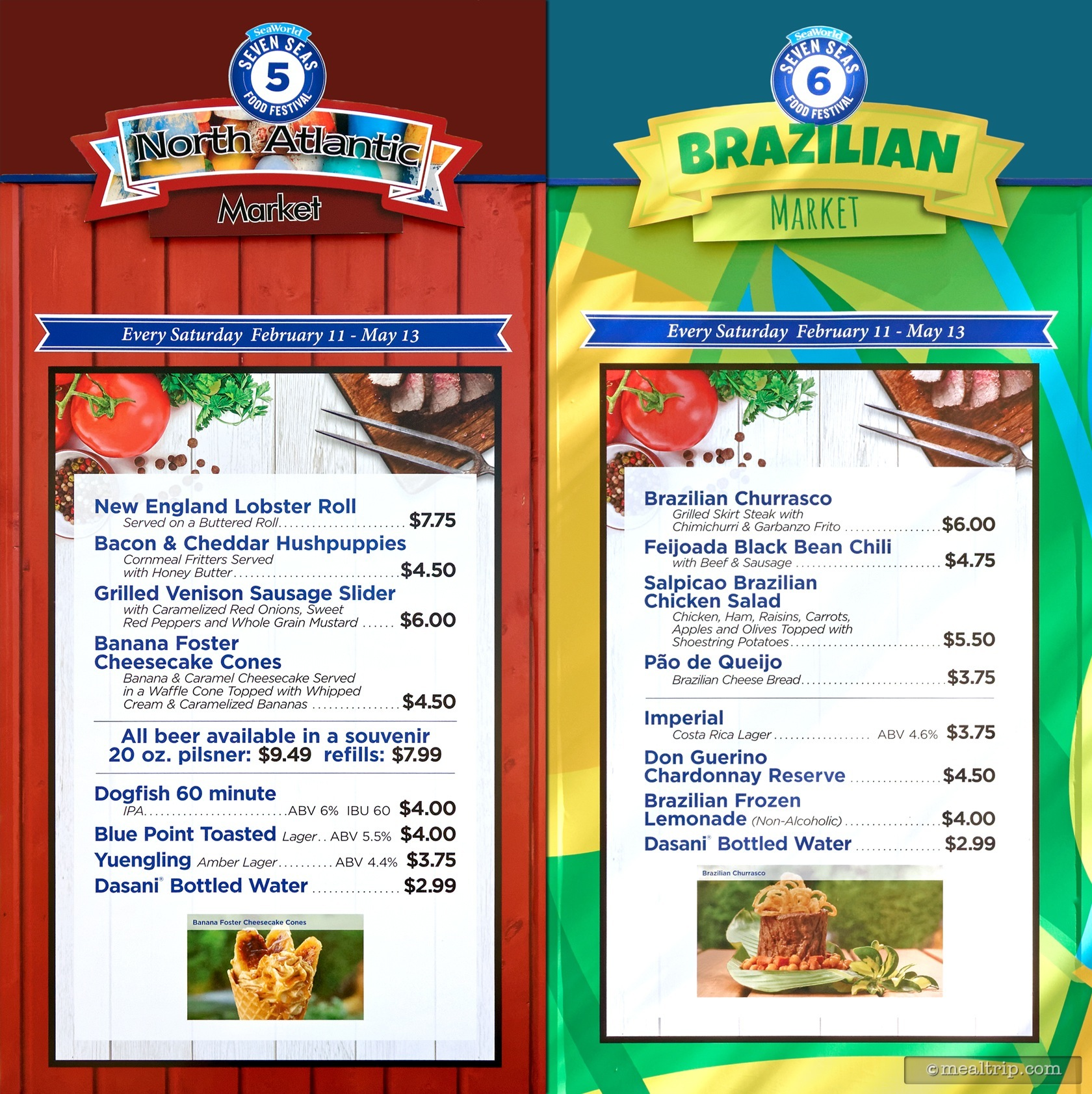 Menu Boards And Prices For 2017 SeaWorld Orlando Seven