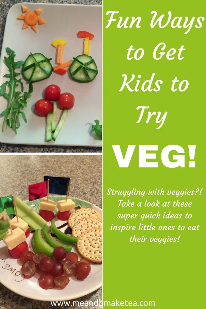 Fun Ways to Get Kids to Try Veggies vegetables fussy pick eater toddler weaning baby kids