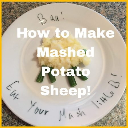 how to make easy quick simple mashed potato sheep for kids fun food healthy recipe ideas