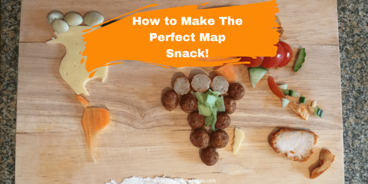 How to Make The Perfect Map Snack using healthy food vegetables for kids science STEM