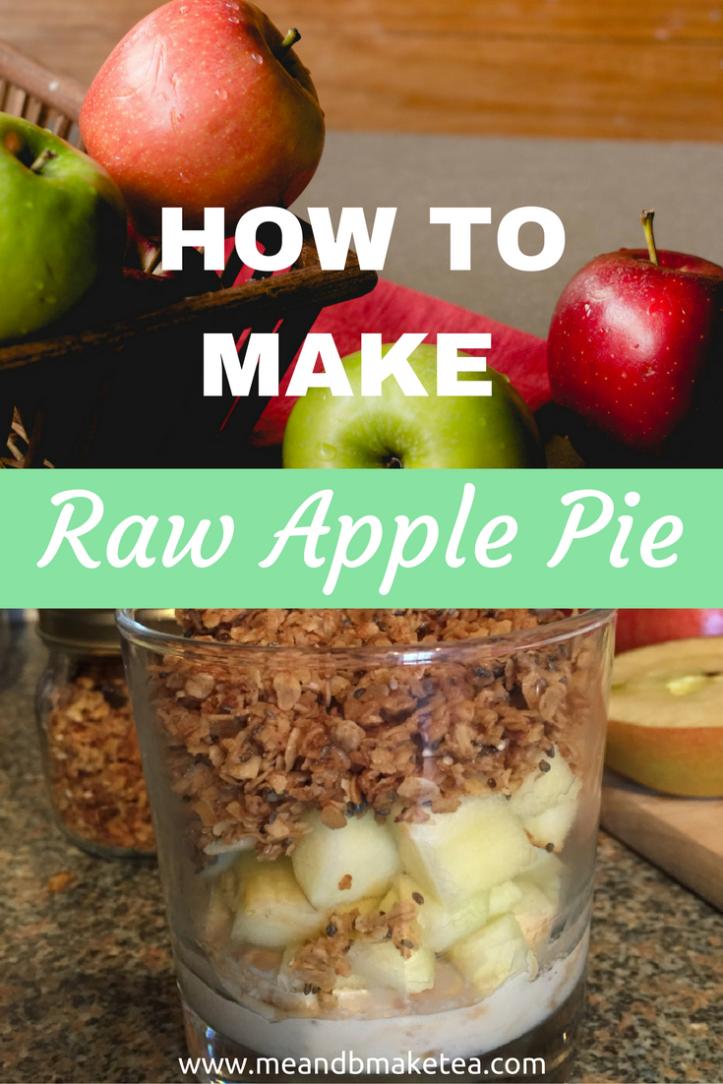 how to make raw apple pie pudding breakfast idea granola yogurt recipe review