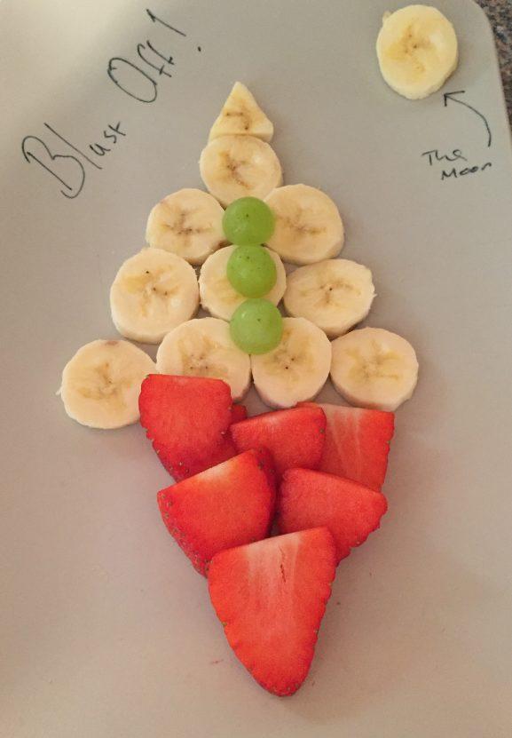 Healthy Fun Food for Children Me and B Make Tea_blast off banana rocket