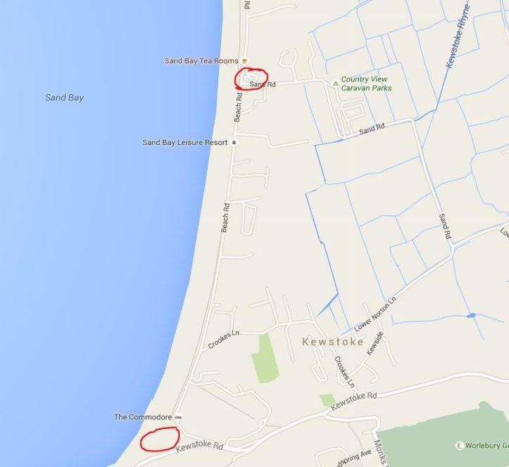 sand bay weston super mare parking map
