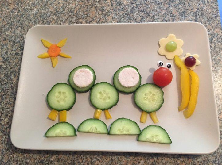 crazy caterpillar healthy toddler snack
