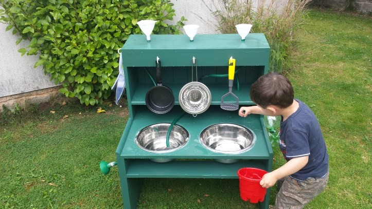 how to make a mud kitchen children toddlers kids garden fun