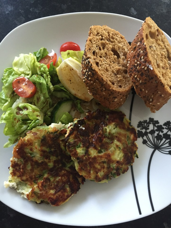 courgette zuchinni fritters feta cheese quick easy meals toddler dinner lunch