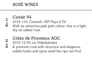 Pierre Bistro wine menu weston super mare reviews