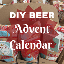 Empty Make a DIY beer ale advent calendar craft beer make your own home made ideas using a box