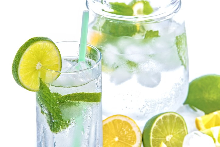 mineral-water fruit infusions
