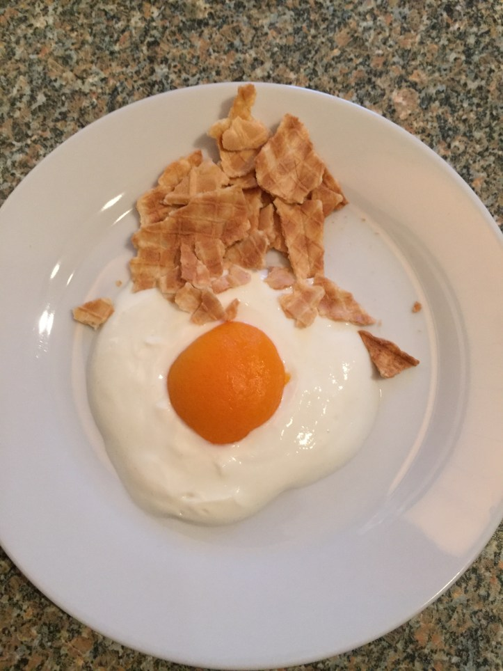 yogurt and fruit fried poached egg breakfast fun toddlers weaning