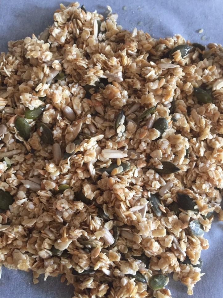 granola chia seed mix home made recipe