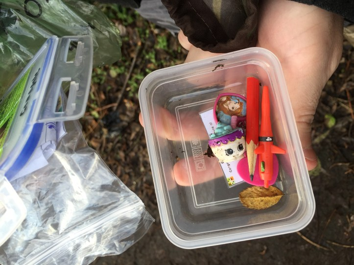 what is geochaching with a toddler cache treasure