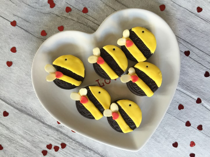 valentines oreo cookie bees cute fun love recipe template how to make easy