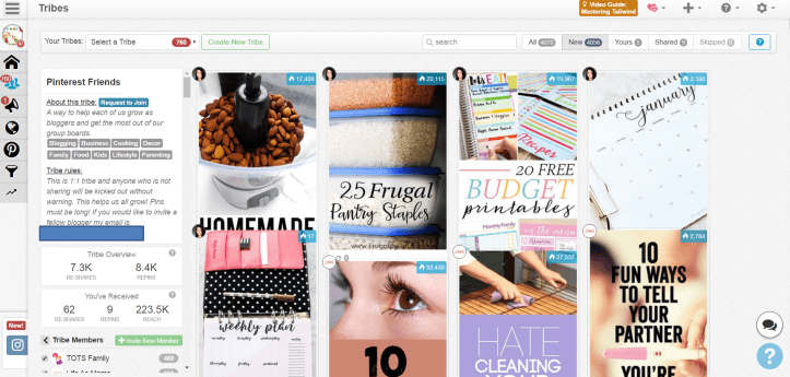 use tailwind for pinterest tribes how to tutorial