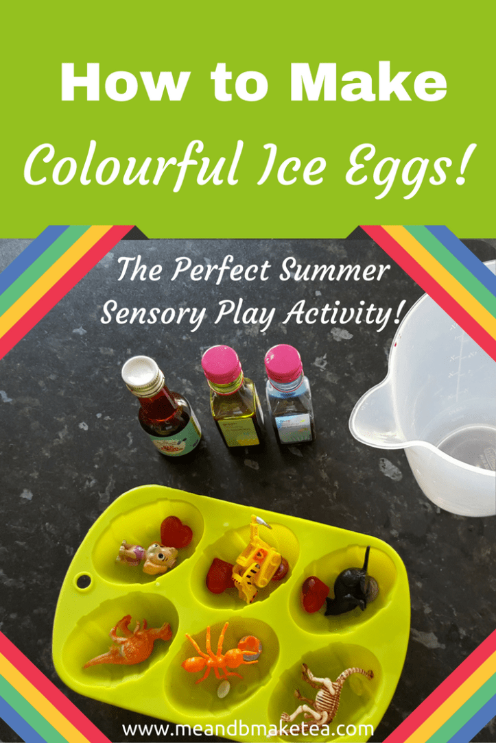 How to Make Colourful Ice Eggs - The Perfect Summer Sensory Play Activity!
