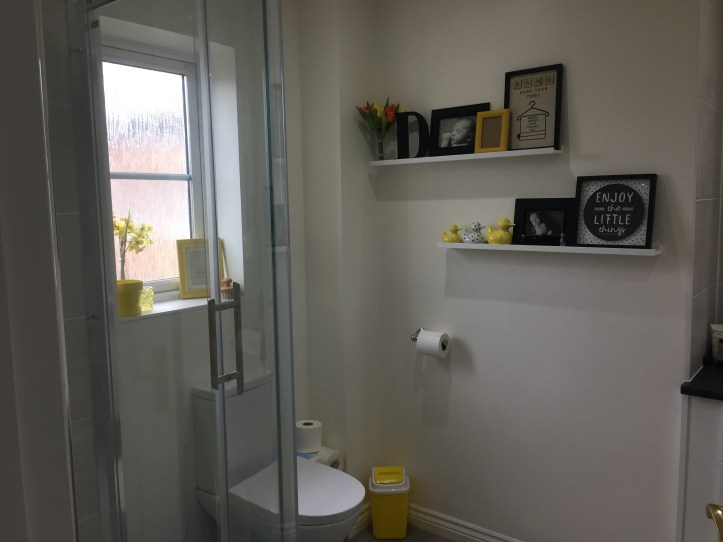 decorating bathroom ensuite ideas mustard yellow and grey