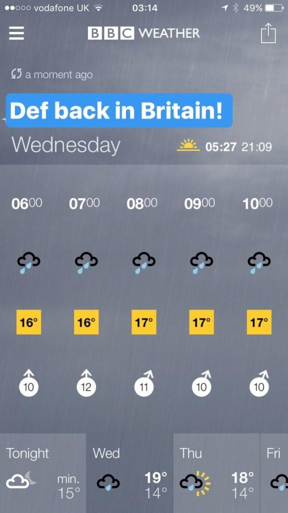 british weather rain