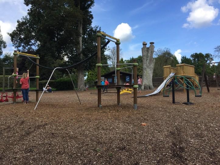 bicton botanical gardens in Devon outdoor play area for children