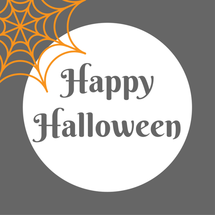 halloween printables free happy halloween text and cobweb